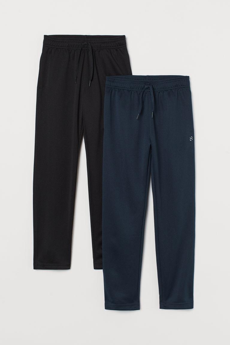 H & M - 2件入運動長褲 - 黑色
