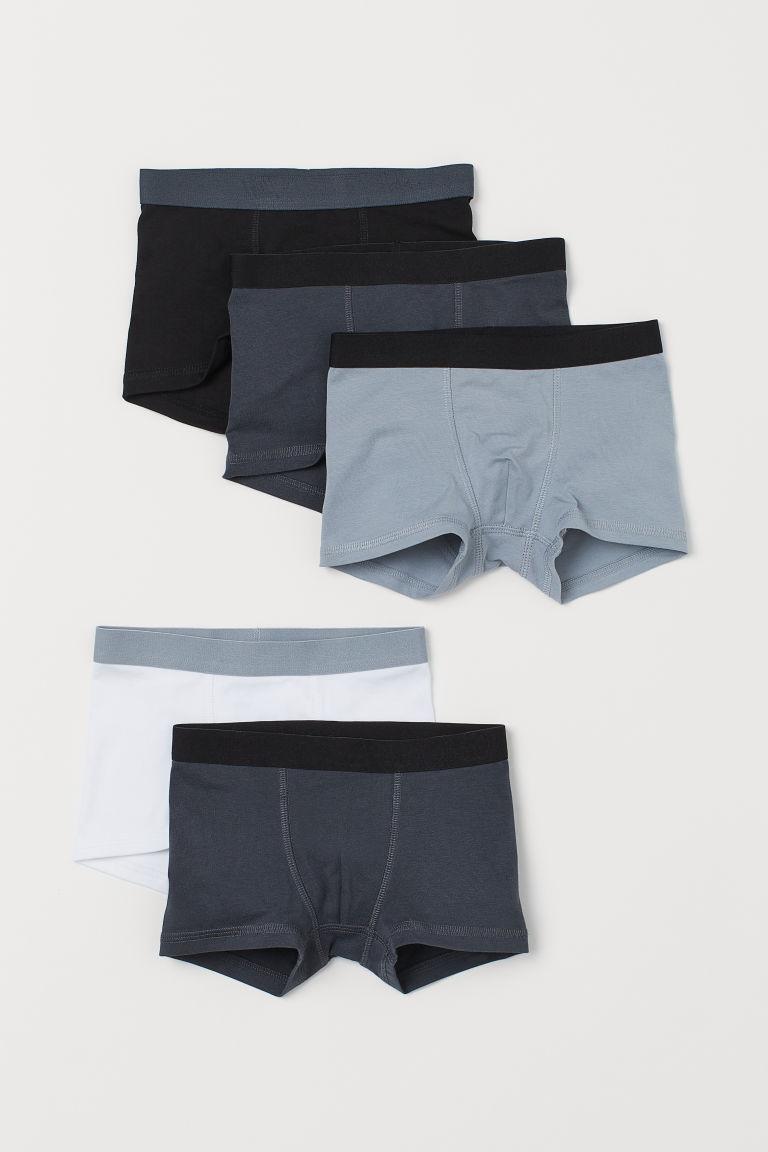 H & M - 5件入四角褲 - 灰色