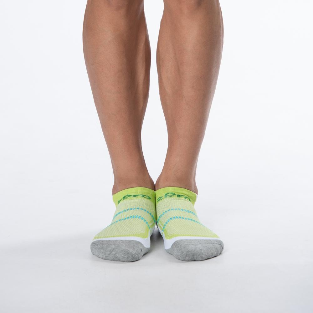 2Pro Marathon長距離慢跑運動襪-船型-輕快飛綠(商品編號:S0114655L)