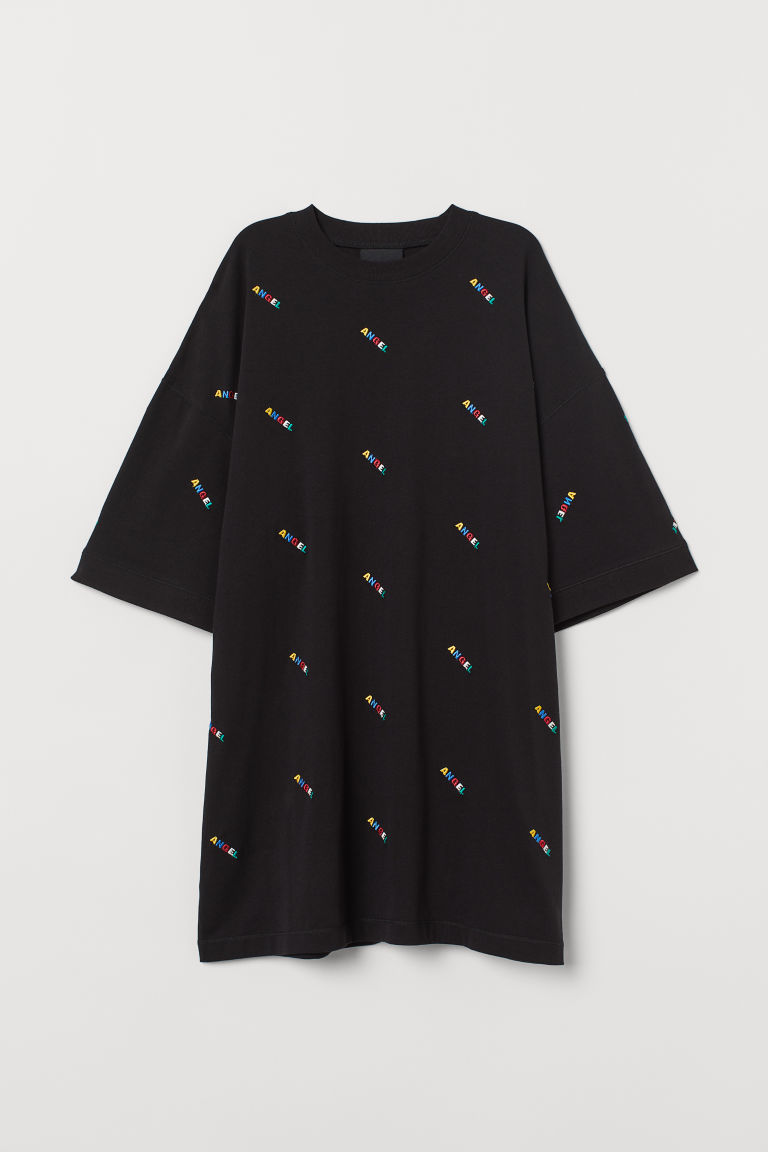H & M - 加大碼T恤 - 黑色