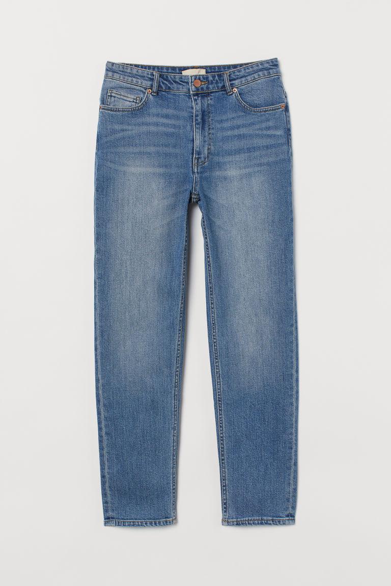H & M - 貼身九分牛仔褲 - 藍色