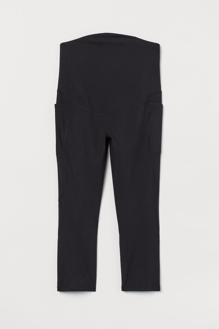 H & M - MAMA 緊身運動褲 - 黑色