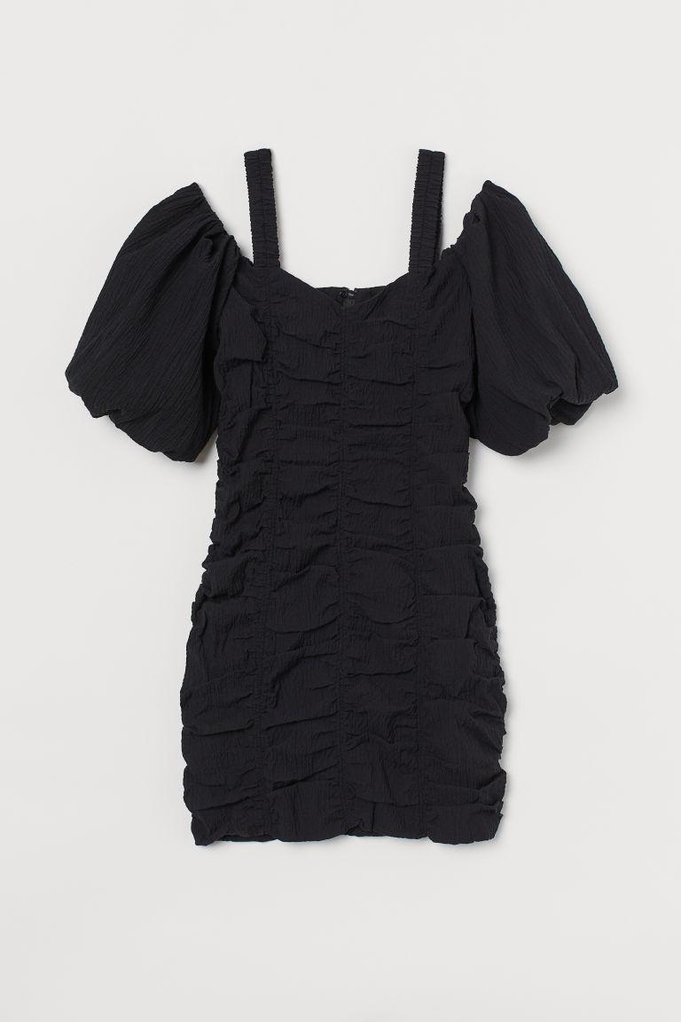 H & M - 露肩洋裝 - 黑色