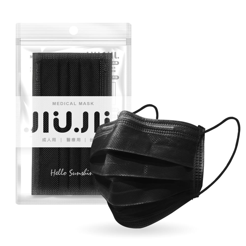 親親JIUJIU醫用口罩-夜空墨黑5入 【康是美】