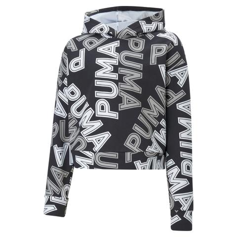 PUMA 基本系列Modern Sports滿版長厚連帽T恤(G)