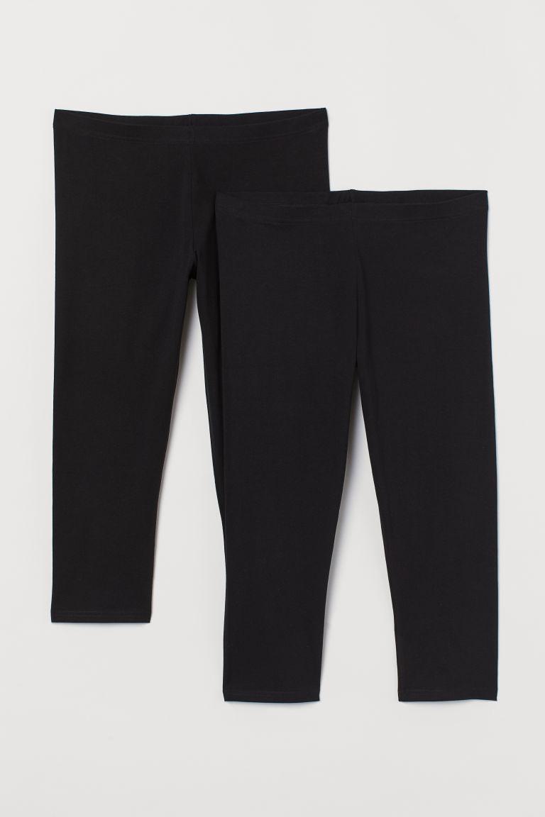 H & M - H & M+ 2件入內搭褲 - 黑色