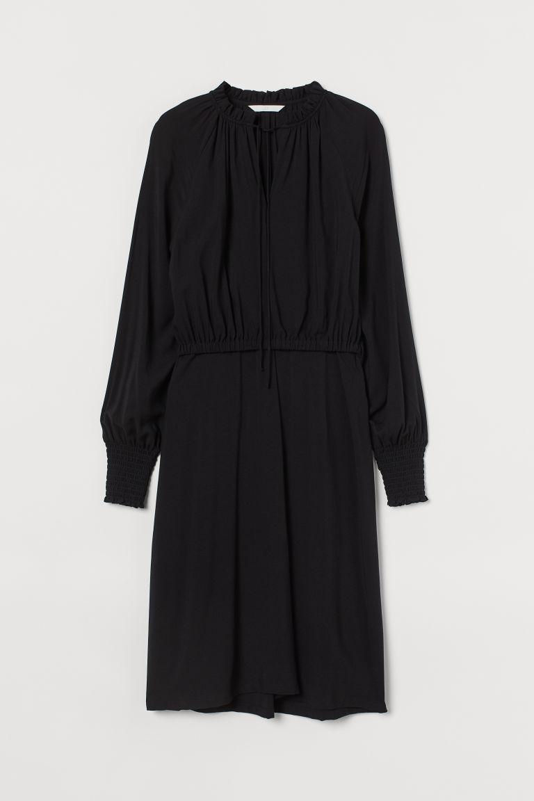 H & M - MAMA 嫘縈哺乳洋裝 - 黑色