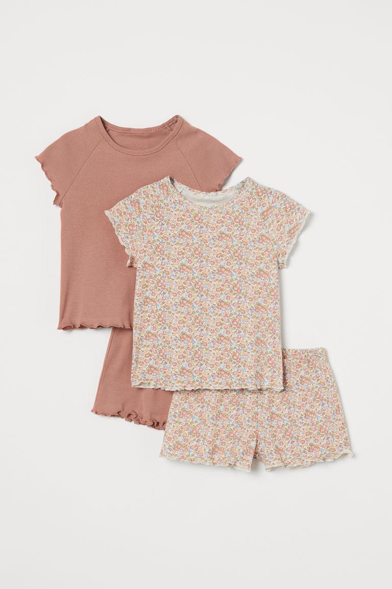 H & M - 2套入棉質睡衣套裝 - 橙色