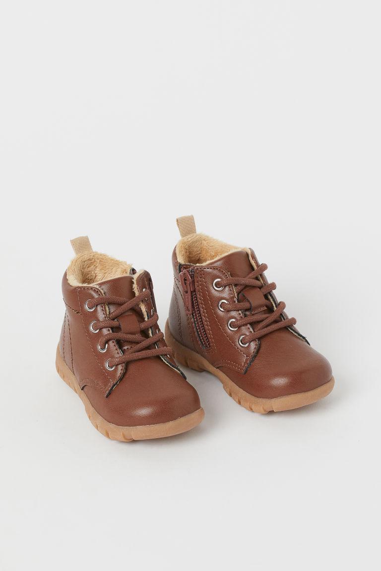 H & M - 保暖內裡靴 - 褐色