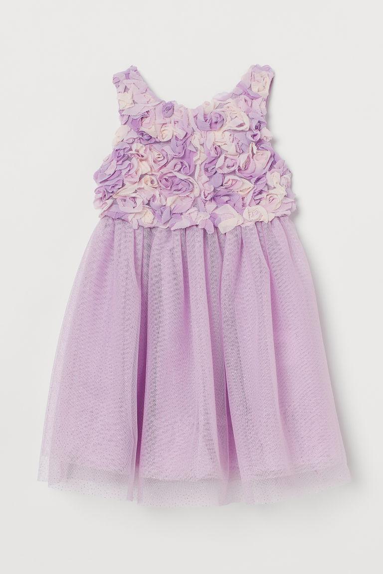 H & M - 金蔥薄紗洋裝 - 紫色