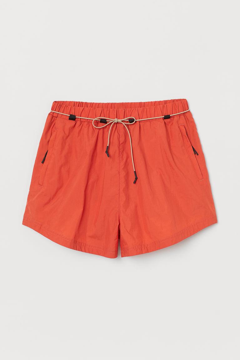 H & M - 跑步短褲 - 橙色