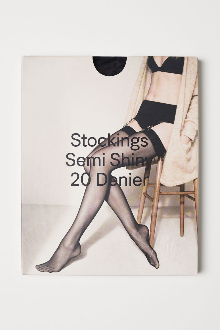 H & M - 20丹尼龍絲襪 - 黑色