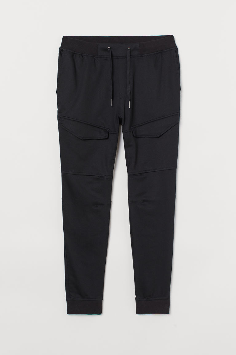 H & M - 慢跑褲 - 黑色