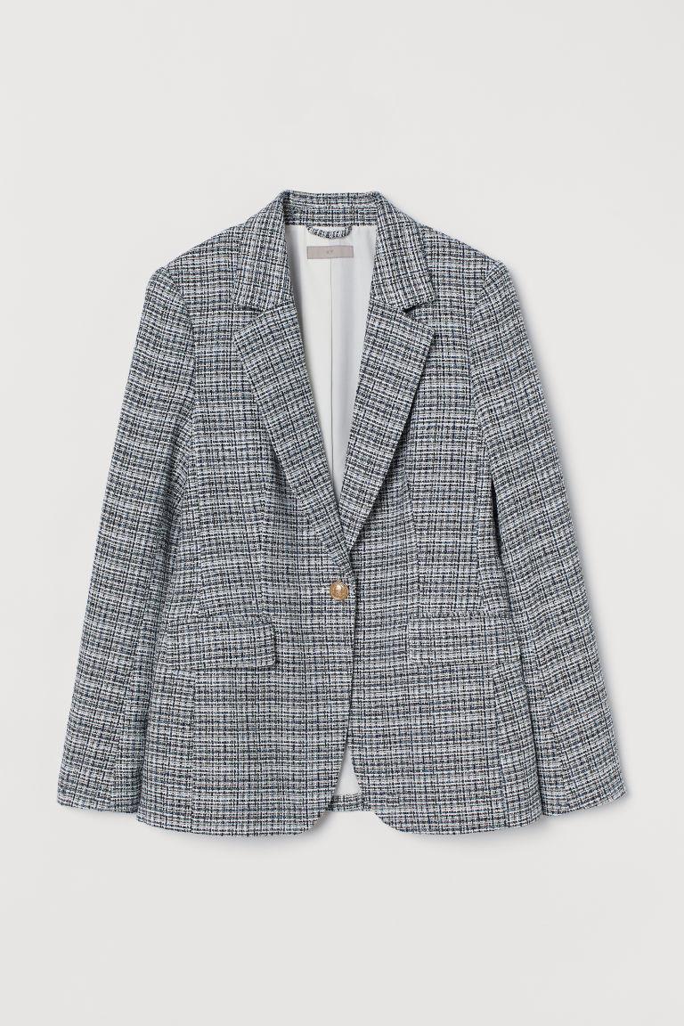 H & M - 毛圈紗西裝外套 - 黑色