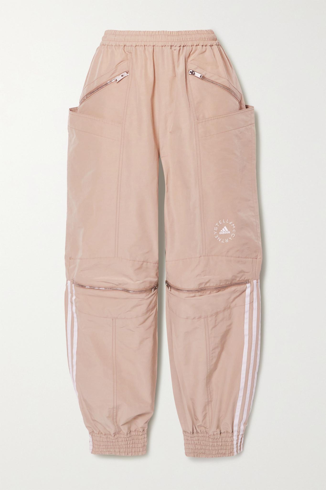 STELLA MCCARTNEY - X Adidas Originals 条纹软壳面料休闲裤 - 棕色 - IT42
