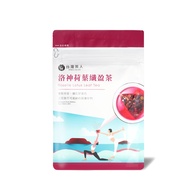台灣茶人洛神荷葉纖盈茶3.3gx10