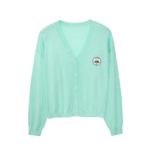 【EASY輕鬆系列】麗嬰房 活力小蜜蜂針織外套-草綠 (成人款)
