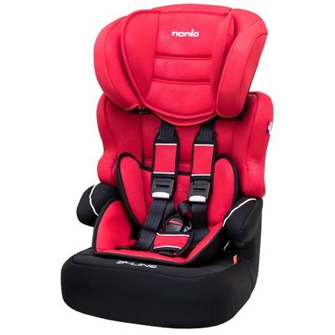 NANIA 納尼亞 -蜂巢系列2-12歲成長型汽車安全座椅-素紅
