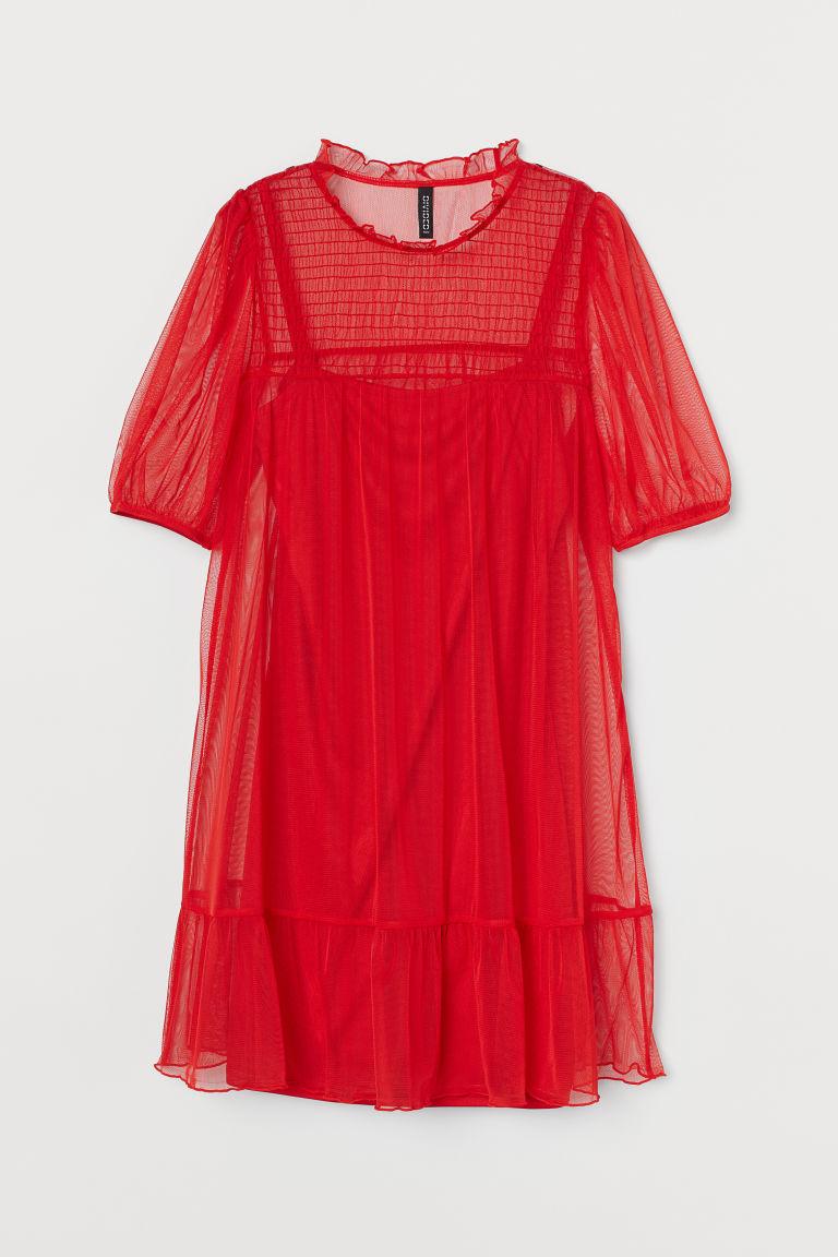 H & M - 公主袖洋裝 - 紅色