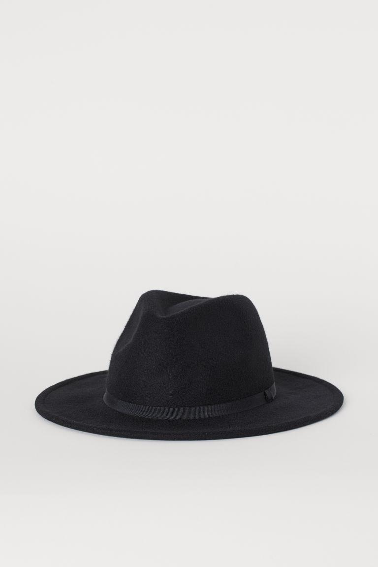 H & M - 毛氈帽 - 黑色