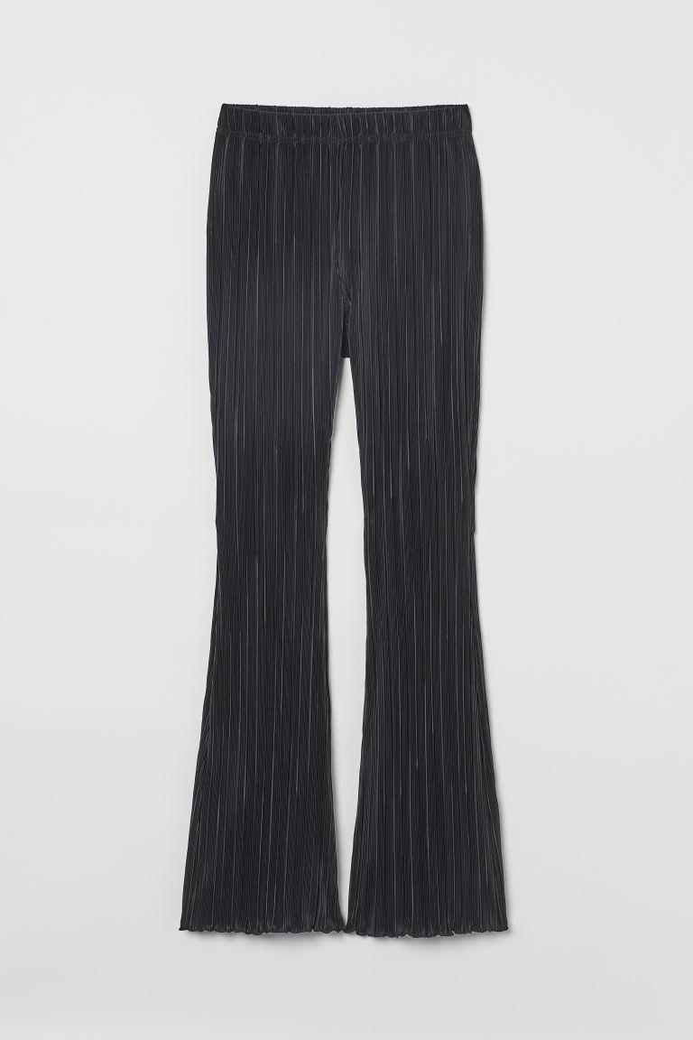 H & M - 百褶爵士褲 - 黑色