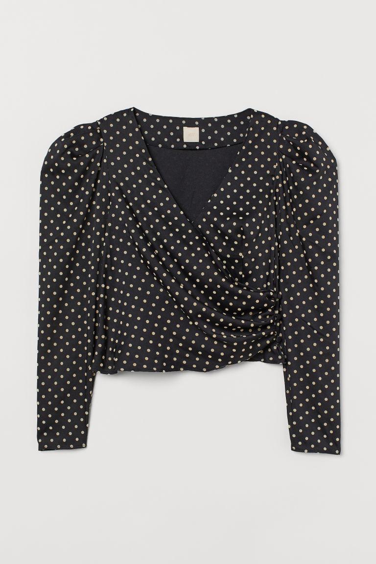 H & M - 公主袖女衫 - 黑色