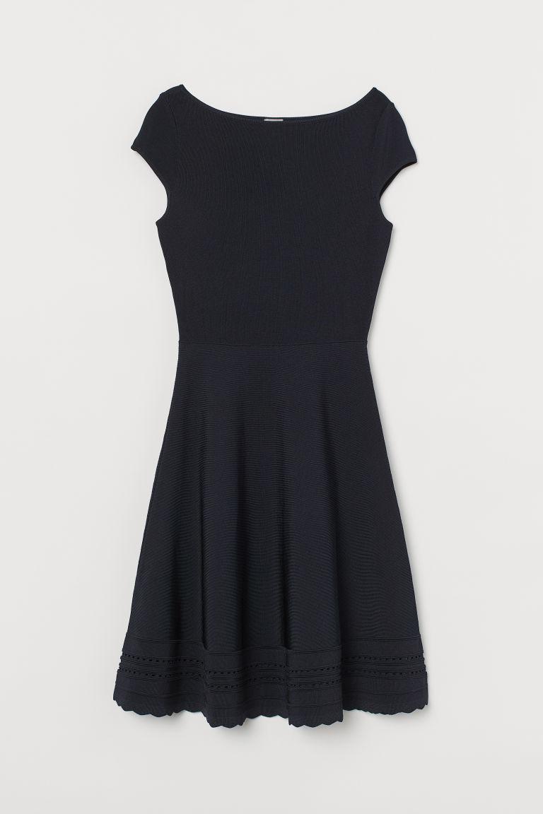 H & M - 精織洋裝 - 藍色