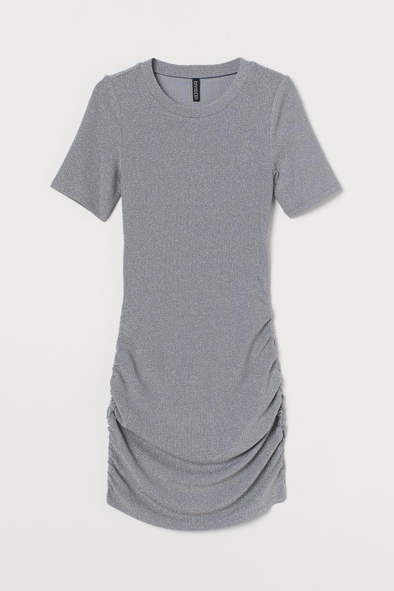 H & M - 金蔥洋裝 - 灰色