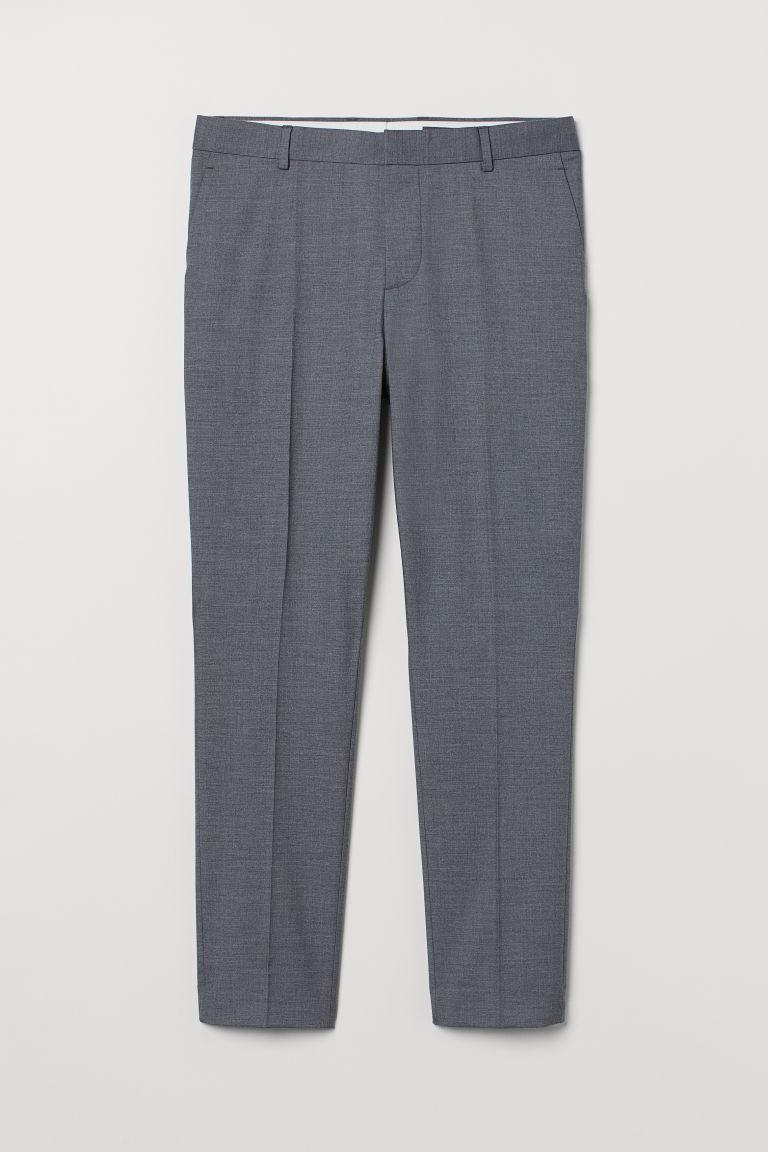 H & M - 緊身西裝褲 - 灰色