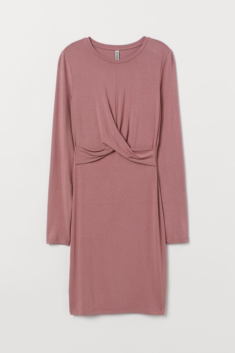 H & M - 結飾洋裝 - 粉紅色