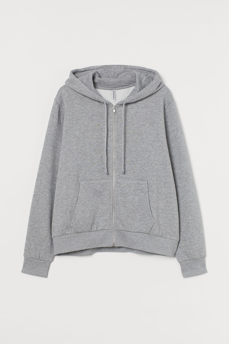 H & M - H & M+ 拉鍊連帽外套 - 灰色