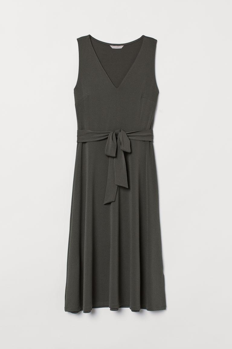 H & M - 綁帶洋裝 - 綠色