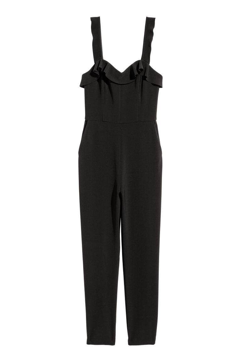 H & M - 無袖連身褲裝 - 黑色