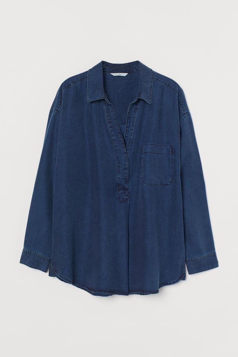 H & M - 萊賽爾女衫 - 藍色