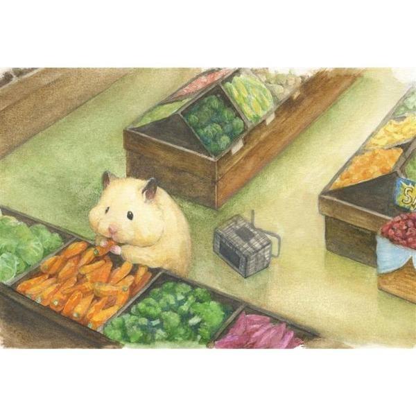 《助六の日常》明信片-蔬菜