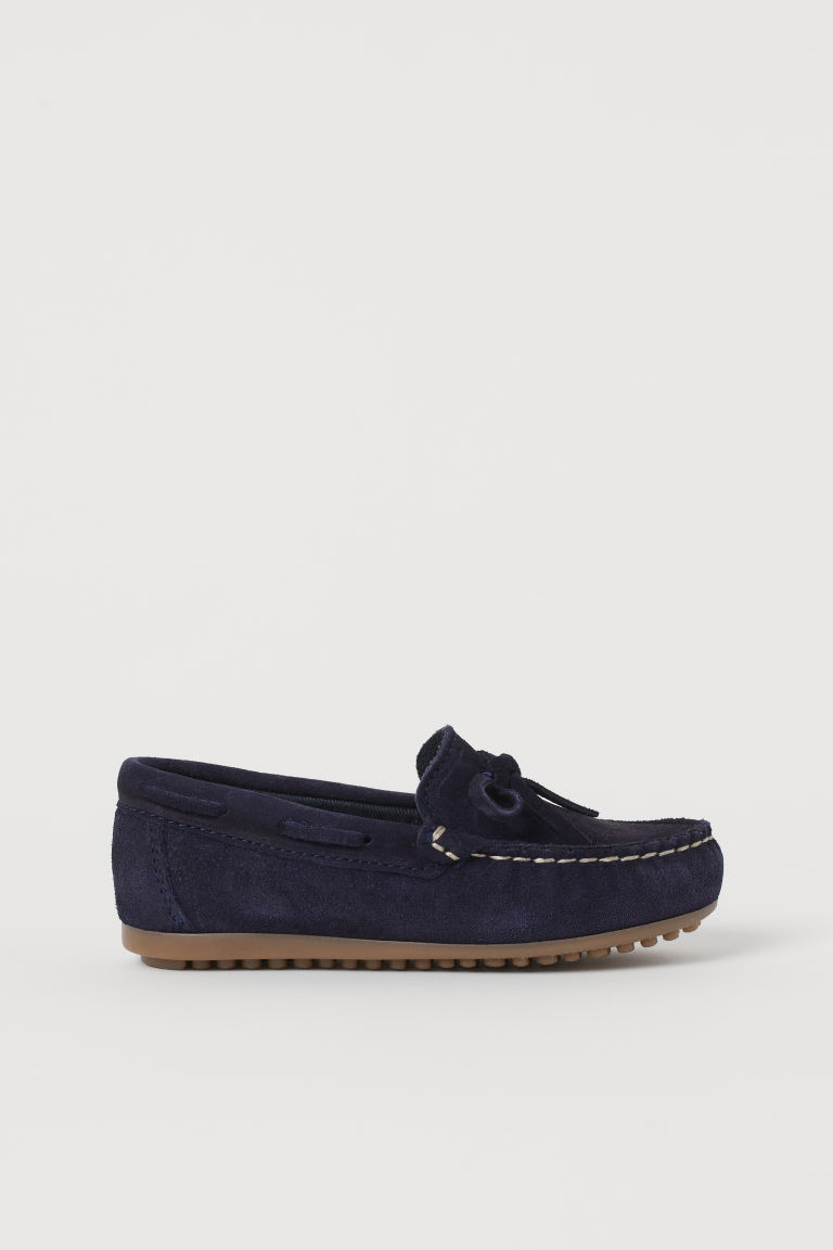 H & M - 麂皮樂福鞋 - 藍色