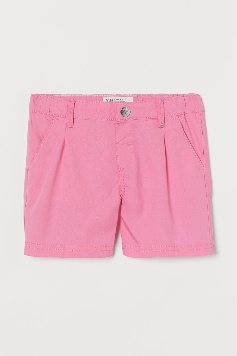 H & M - 棉質短褲 - 粉紅色
