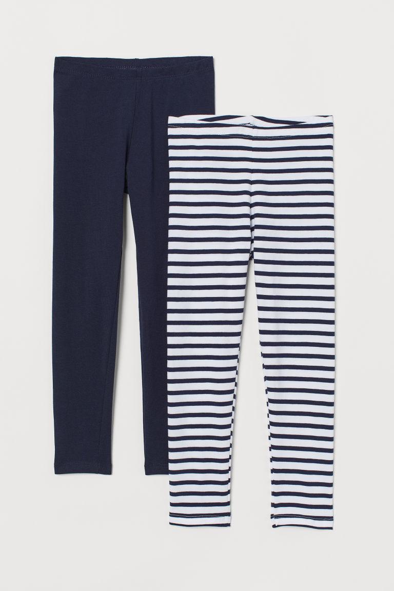 H & M - 2件入棉質內搭褲 - 白色