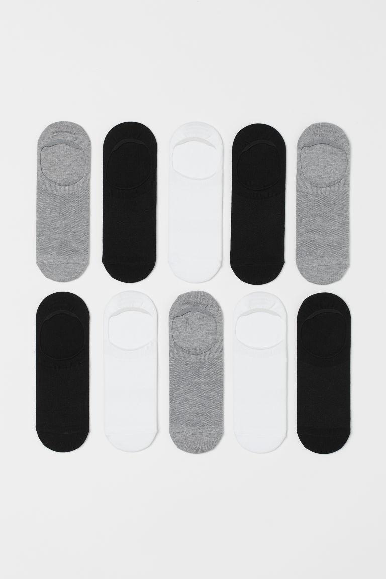 H & M - 10雙入船型襪 - 黑色