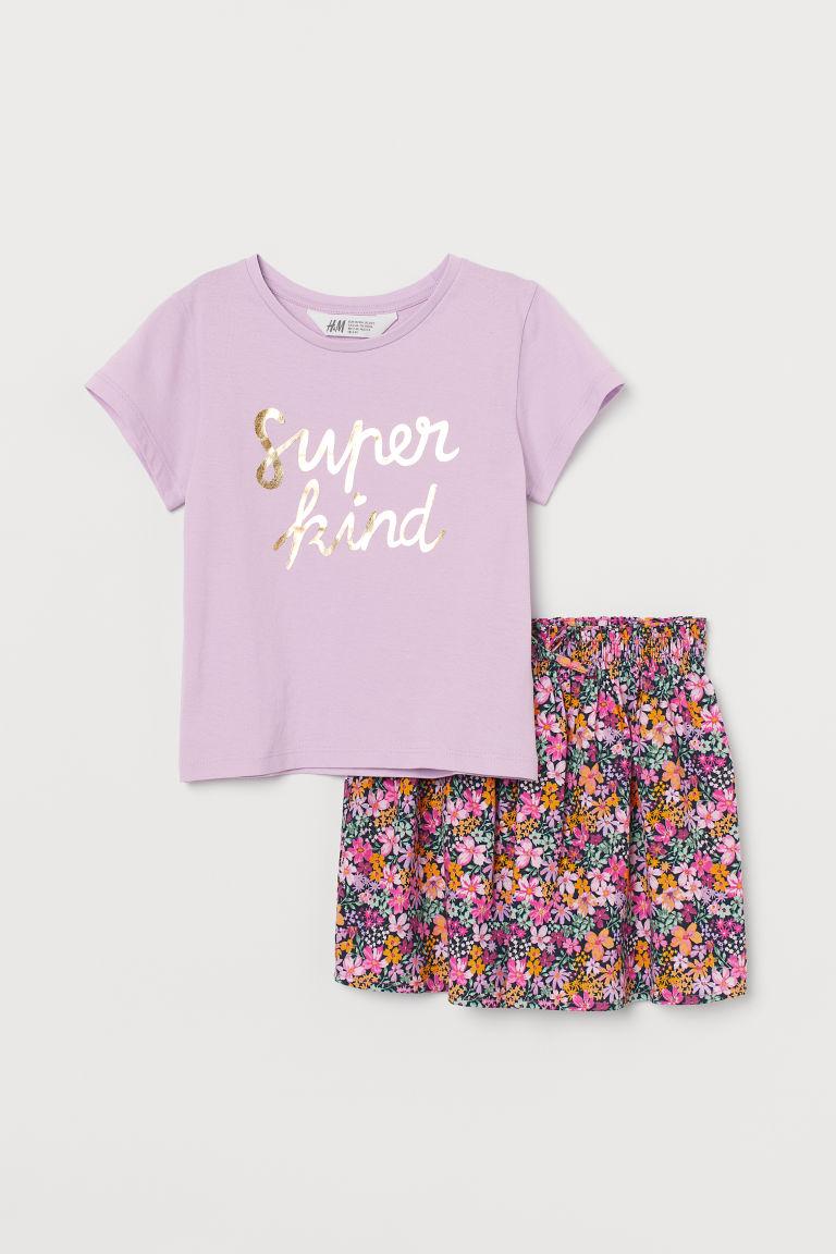 H & M - 棉質2件組套裝 - 紫色