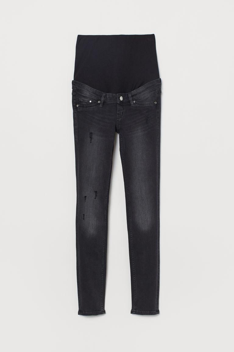 H & M - MAMA 窄管牛仔褲 - 黑色