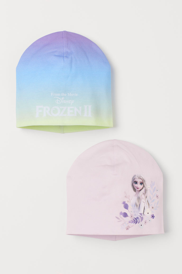 H & M - 2入裝平紋帽 - 紫色