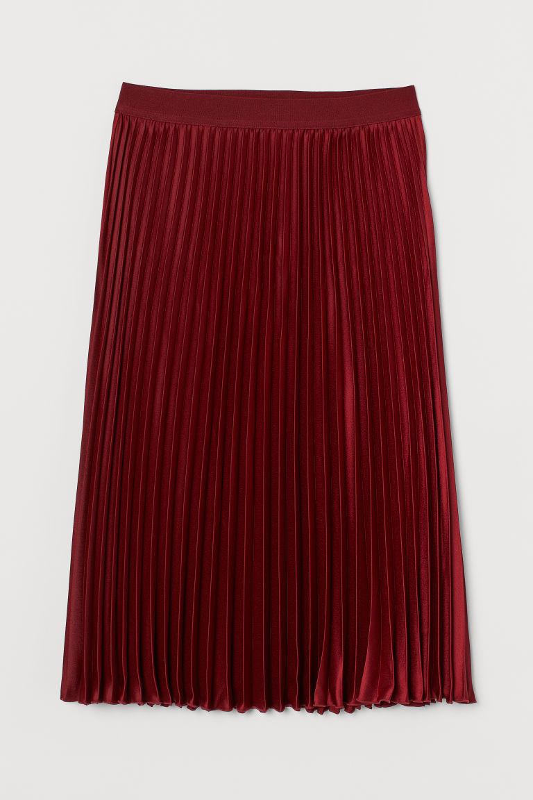 H & M - 百褶裙 - 紅色