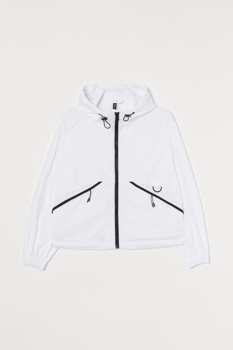 H & M - 尼龍外套 - 白色