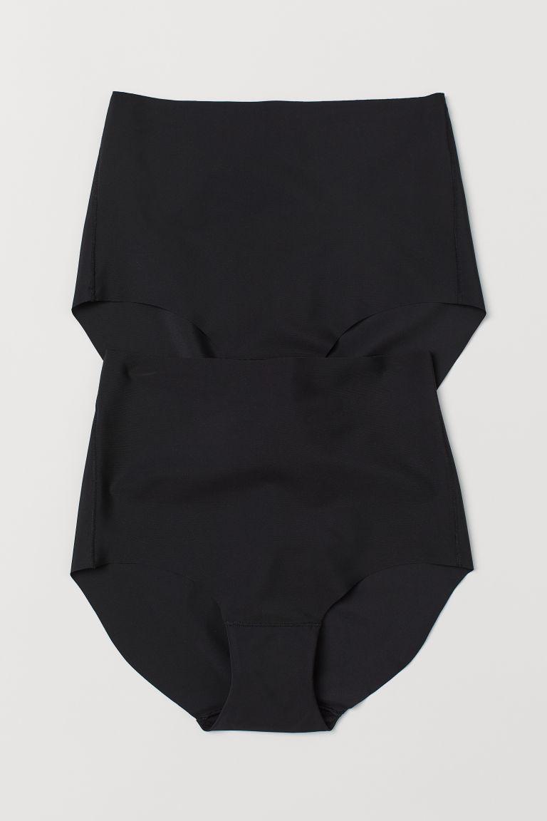 H & M - 2件入微塑身內褲 - 黑色