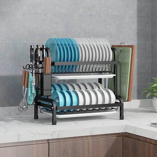瀝水架 黑白不銹廚房碗架瀝水架碗筷碗碟架瀝碗架放盤用品收納盒置物架子