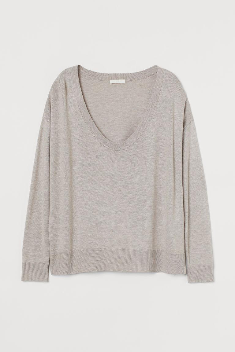 H & M - 精織套衫 - 褐色