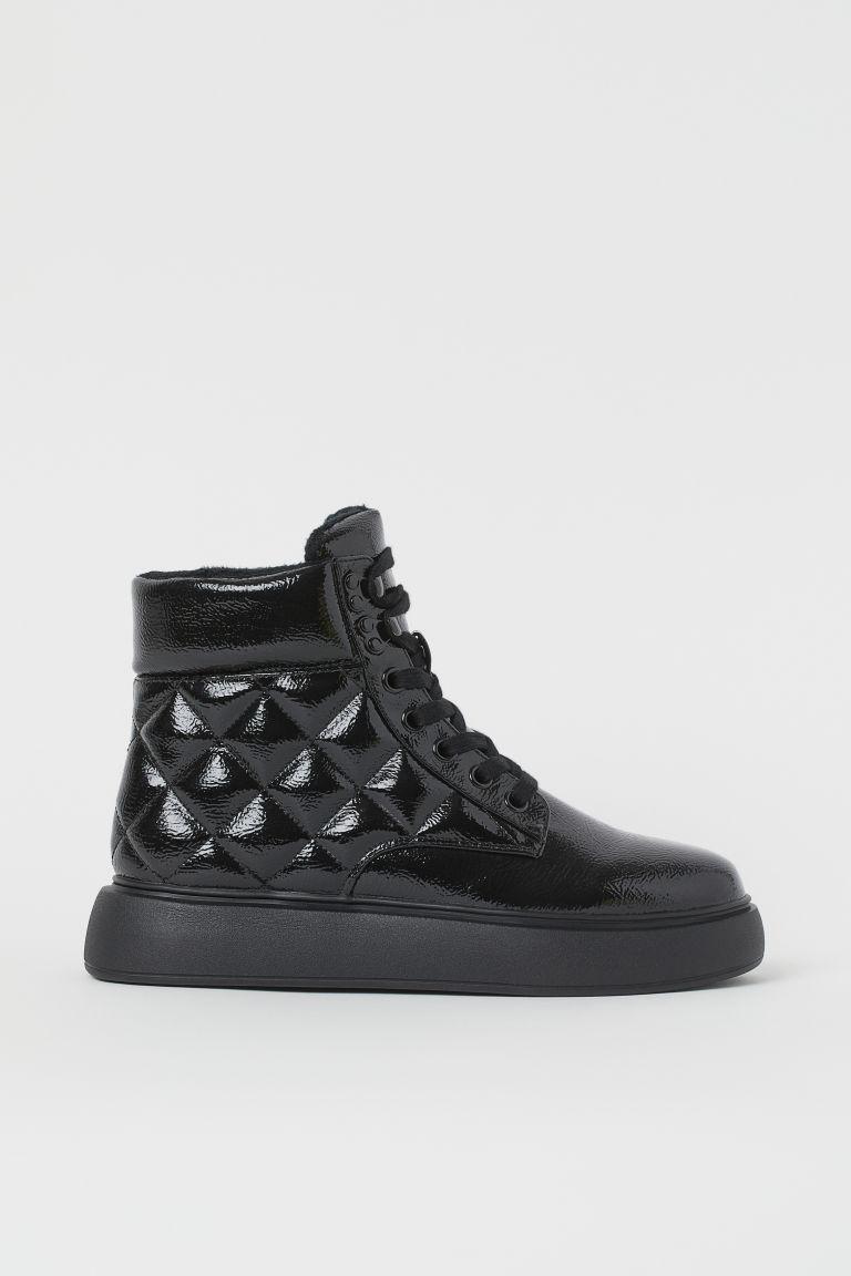 H & M - 車棉靴 - 黑色