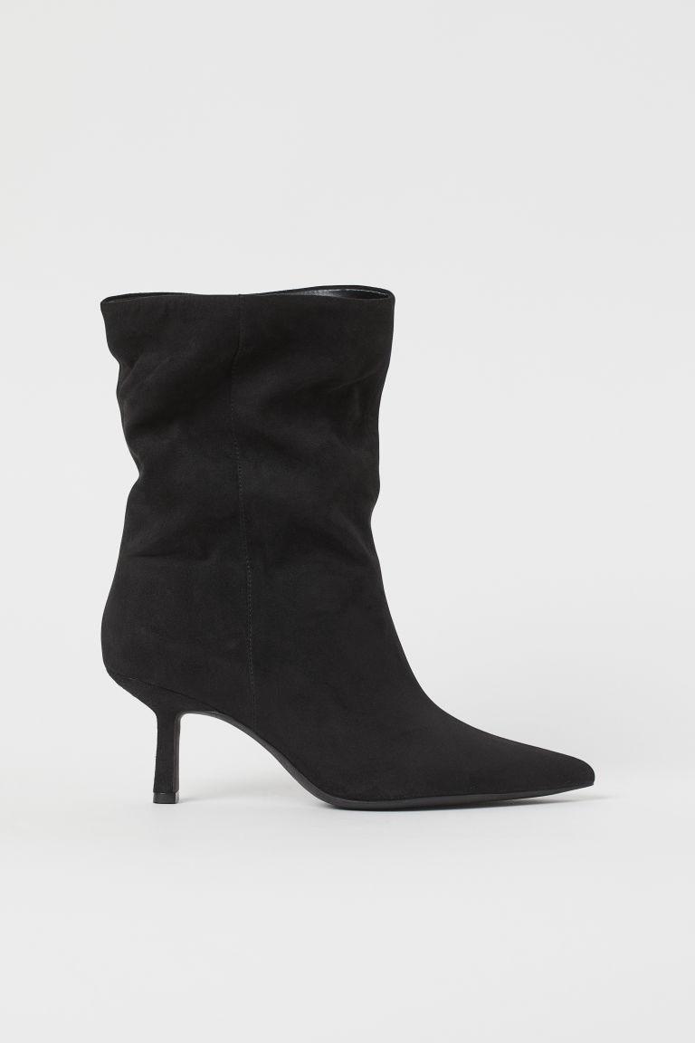 H & M - 尖頭靴 - 黑色