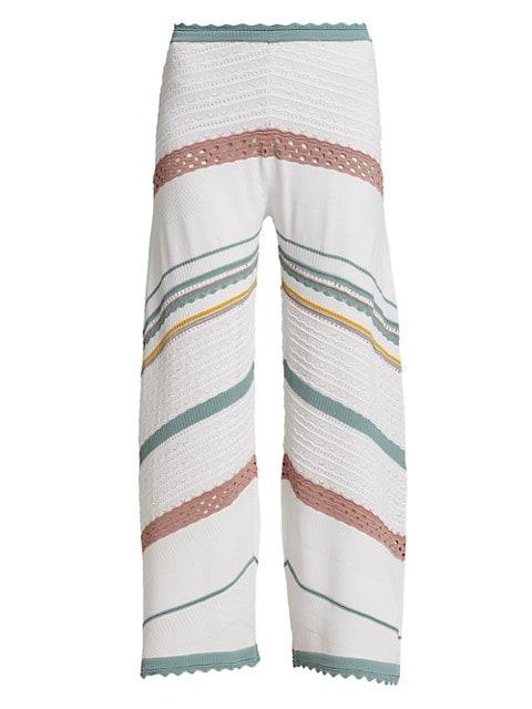 Saloni Wide-Leg Pants
